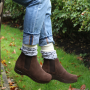Sanita Vaika Soft Sole Boot in Suede Leather in Antique Brown