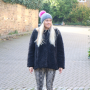 Kusan Luxury Faux Fur Bobble Hat in Grey