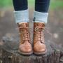 Ten Points Pandora Lace-Up Boot in Cognac
