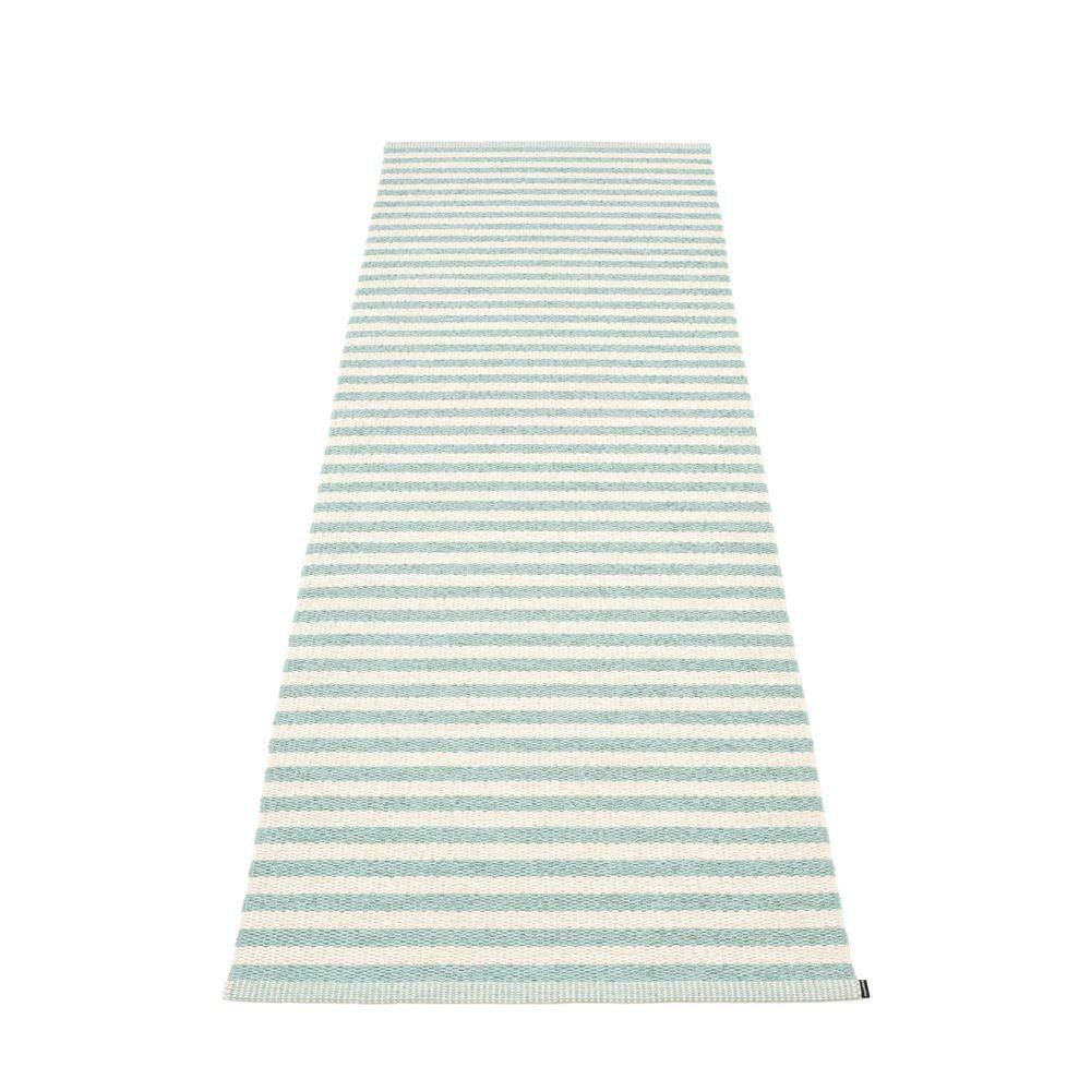 Pappelina Rug Carpet Duo Pale Turquoise and Vanilla Plastmatta Mat