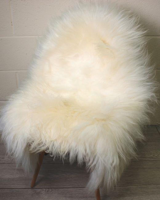 White Icelandic Sheepskin L