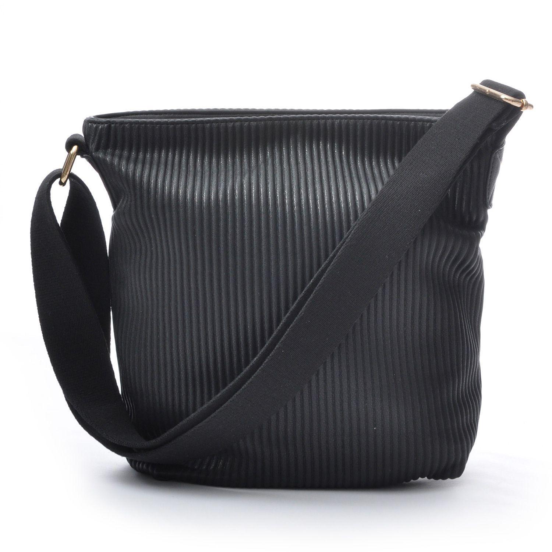Ceannis Walnut Small Shoulder Bag in Black