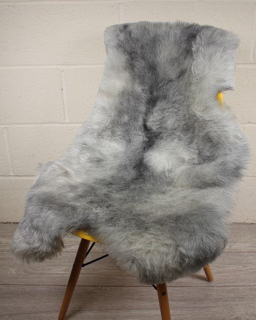 Natural Grey Shorn Icelandic Sheepskin S