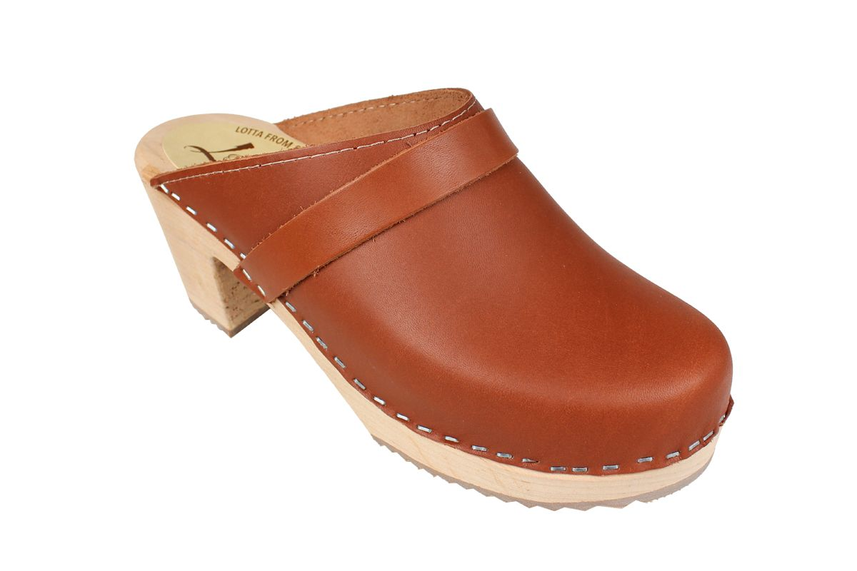 High Heel Classic Clog Tan