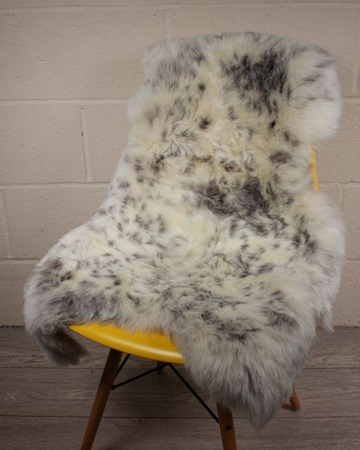 Natural Spotted Shorn Icelandic Sheepskin S