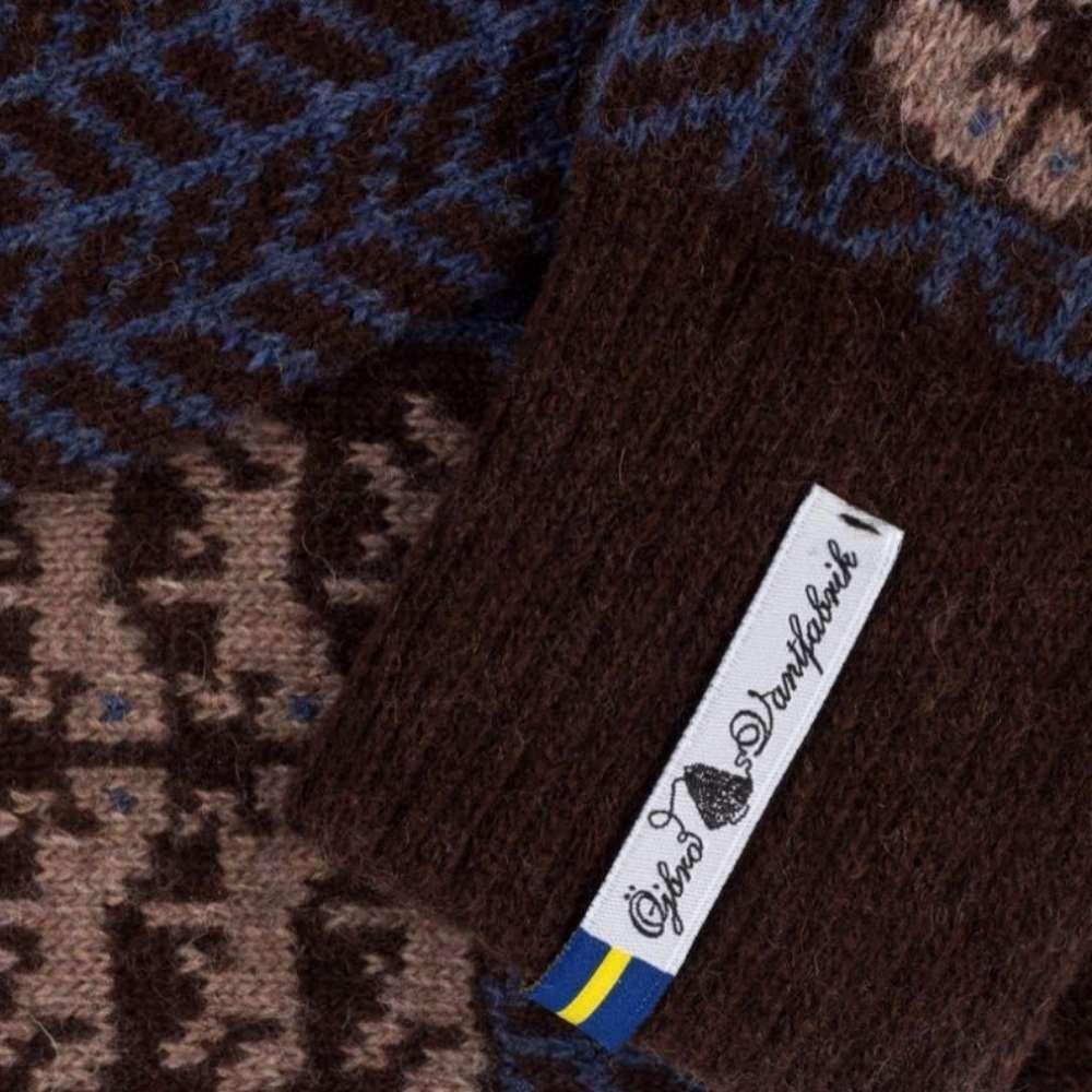 Öjbro Men's Gotland Brun Wool Sock