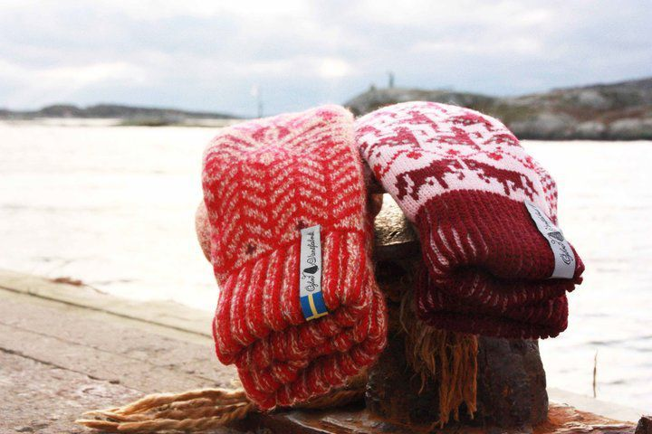 Öjbro Wool Mittens in Fager Ingvor