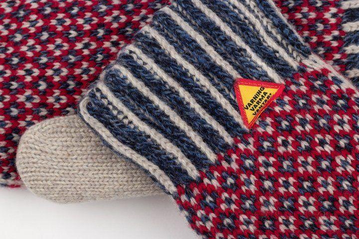 Öjbro Wool Mittens in Lycksele Kalk