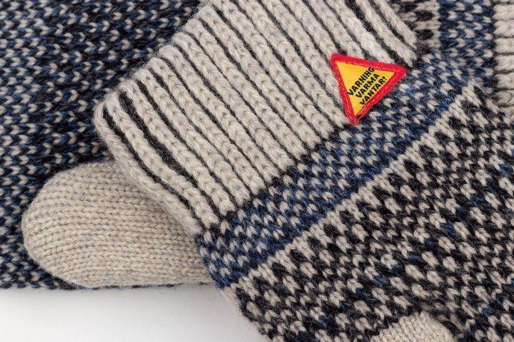 Öjbro Wool Mittens in Gotland Kalk