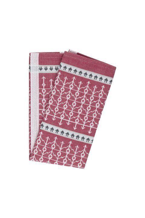 Öjbro Tea Towel Ekshärad Red