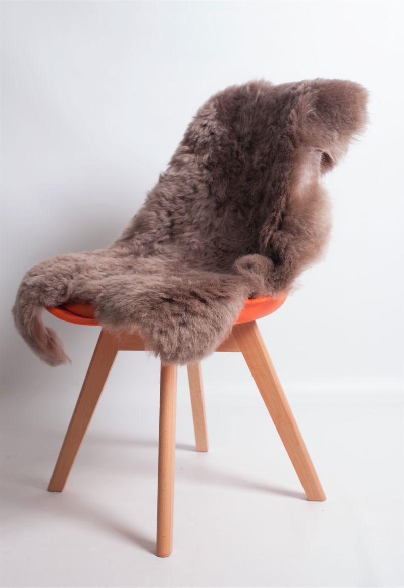 Taupe Shorn Icelandic Sheepskin M