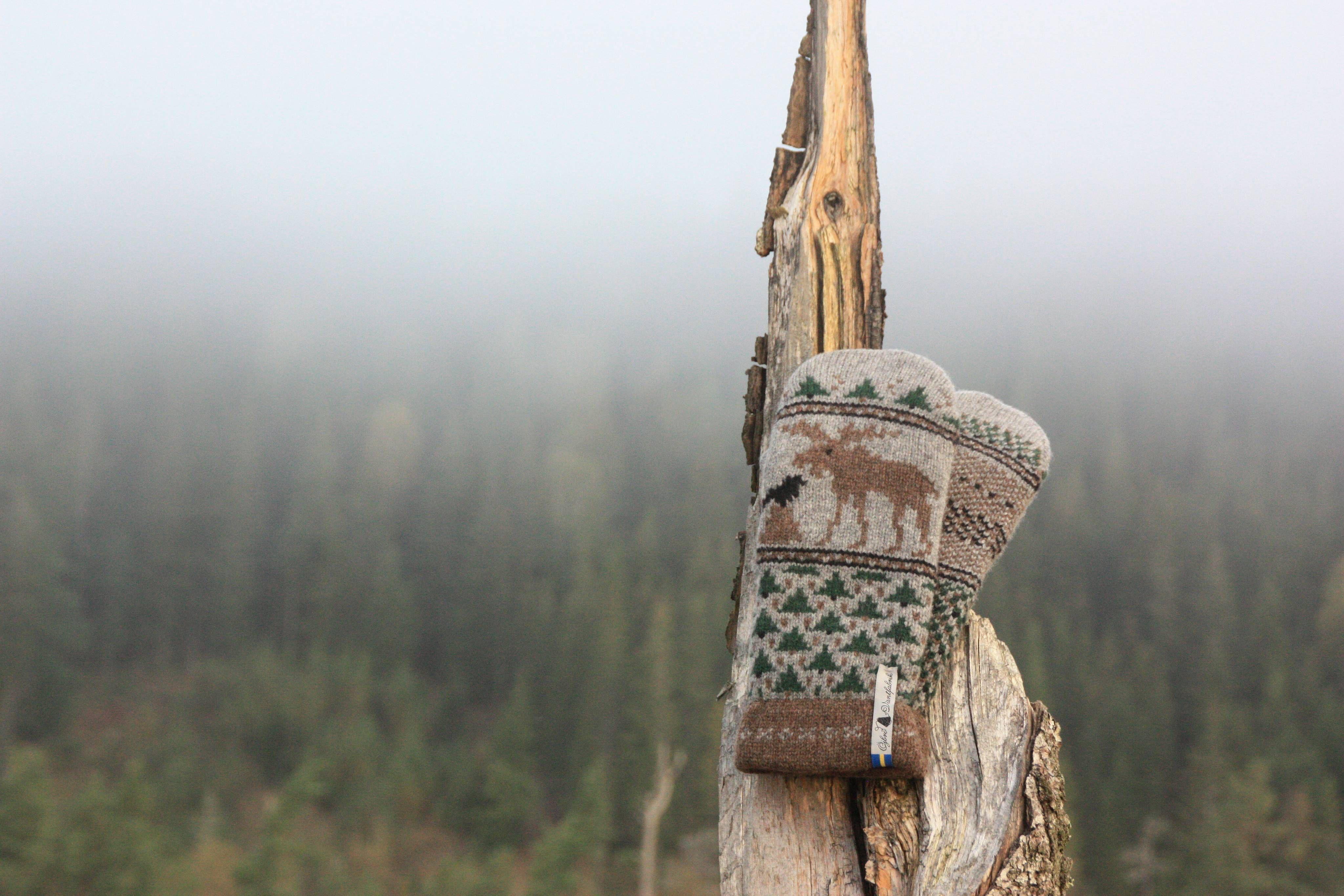 Öjbro Wool Mittens in Skogen
