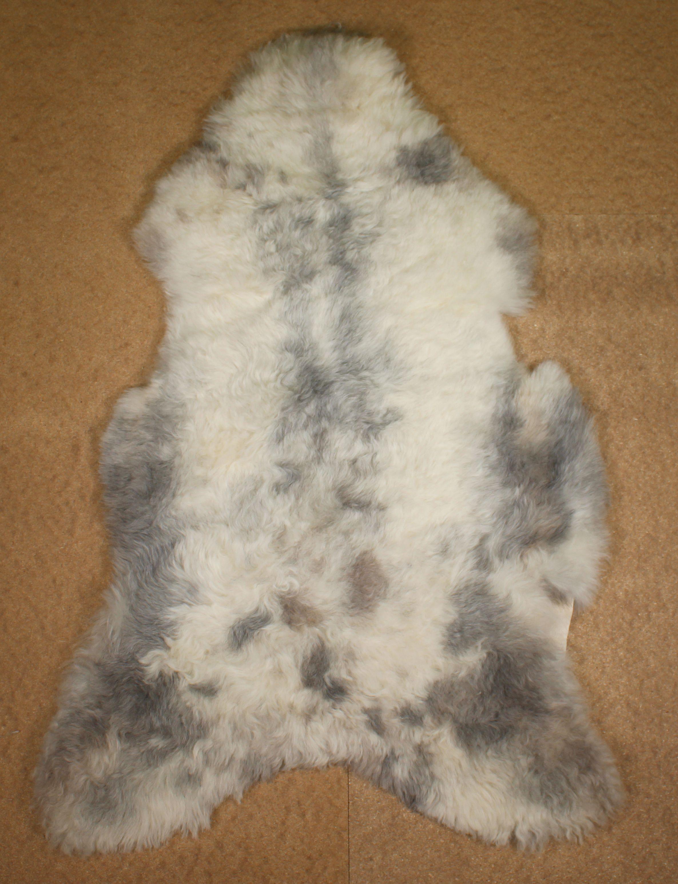 Spotted Shorn Icelandic Sheepskin L