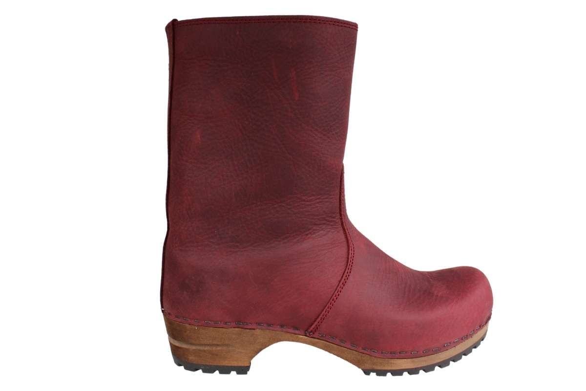 Sanita Risotto Boots in Bordeaux Soft Oil Leather