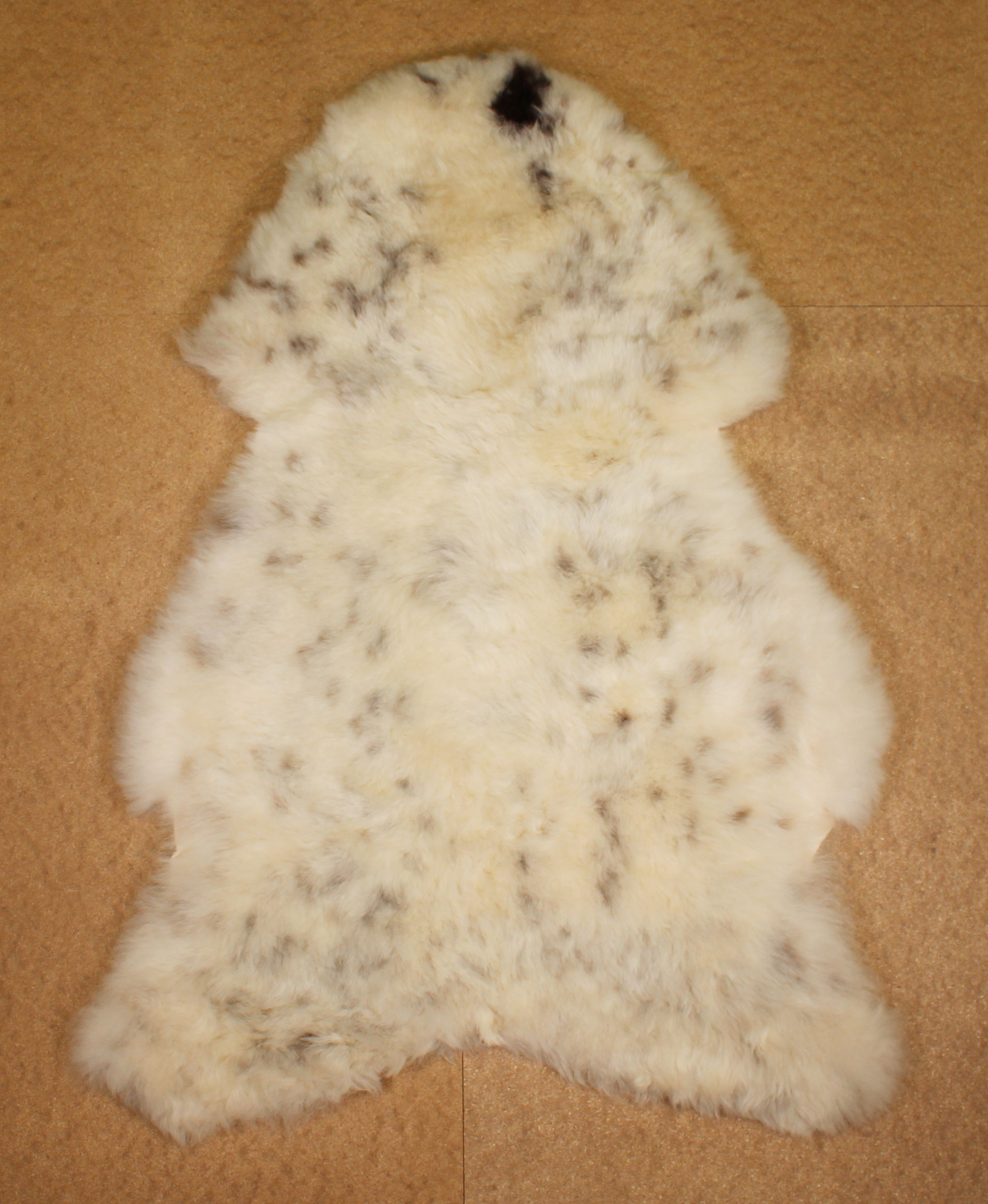 Spotted Shorn Icelandic Sheepskin L