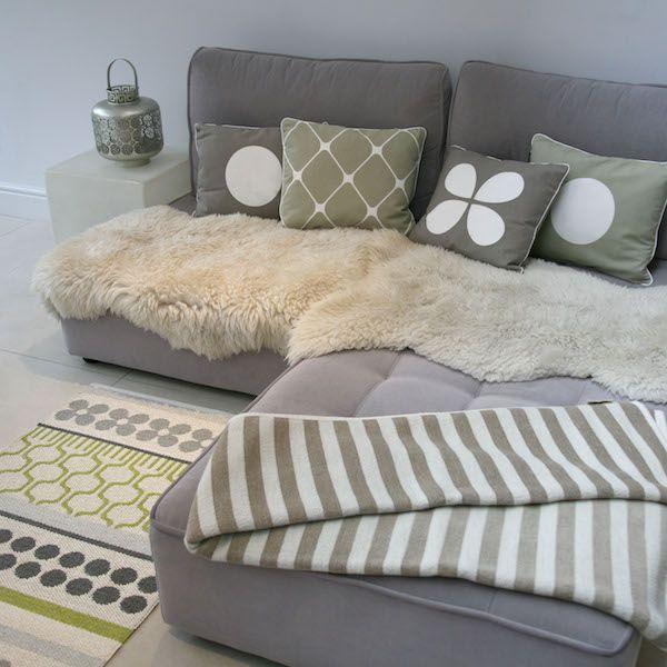 Honey Cushion Warm Grey