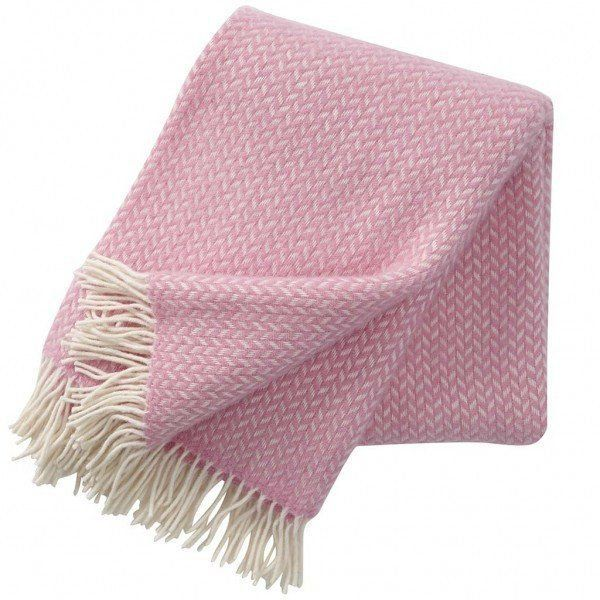Klippan Polka Pink and White Throw