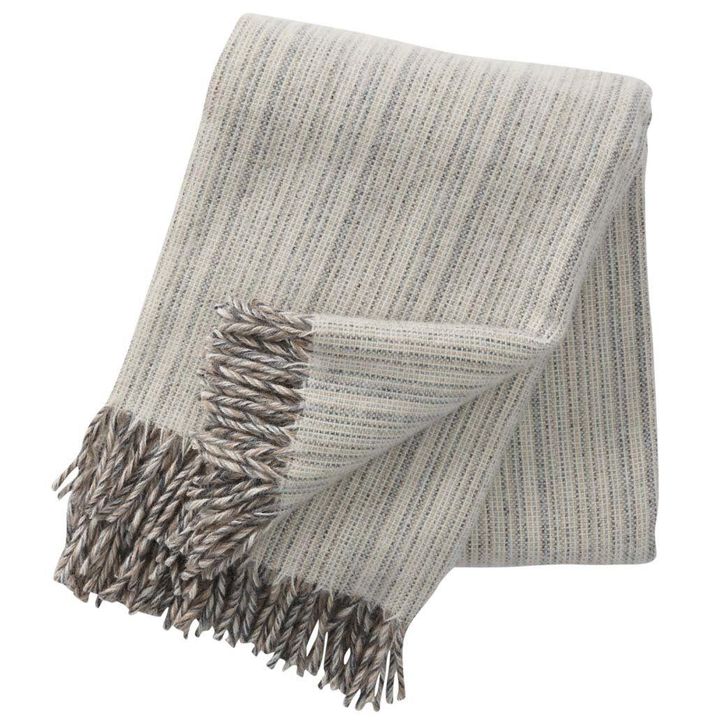 Klippan Björk Natural 100% Lambswool Blanket