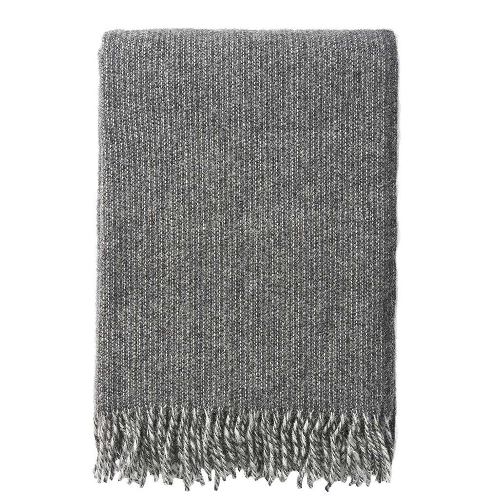 Klippan Shimmer Grey 100% Lambswool Blanket