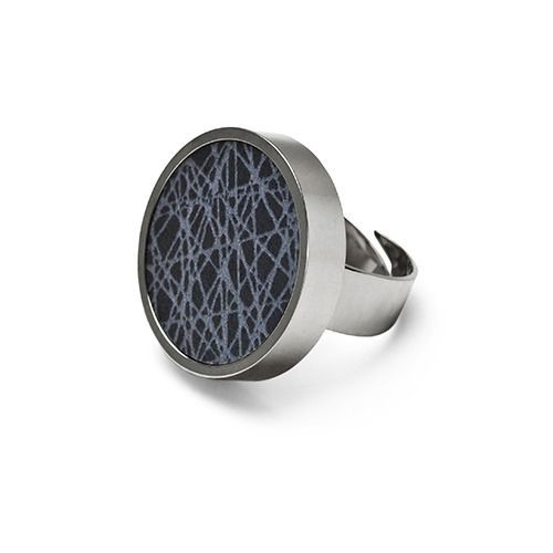 virrvarr dark grey big ring