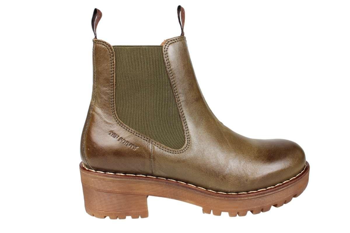 Ten Points Clarisse Chelsea Boot Deep Green
