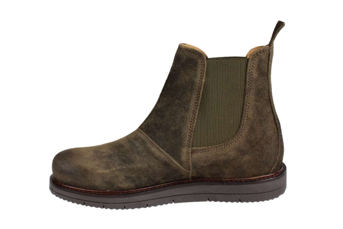 Ten Points Carina Chelsea Boot in Deep Green