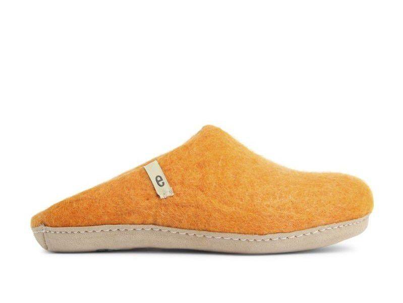 Egos Copenhagen Slip-on Indoor Shoe Simple in Orange