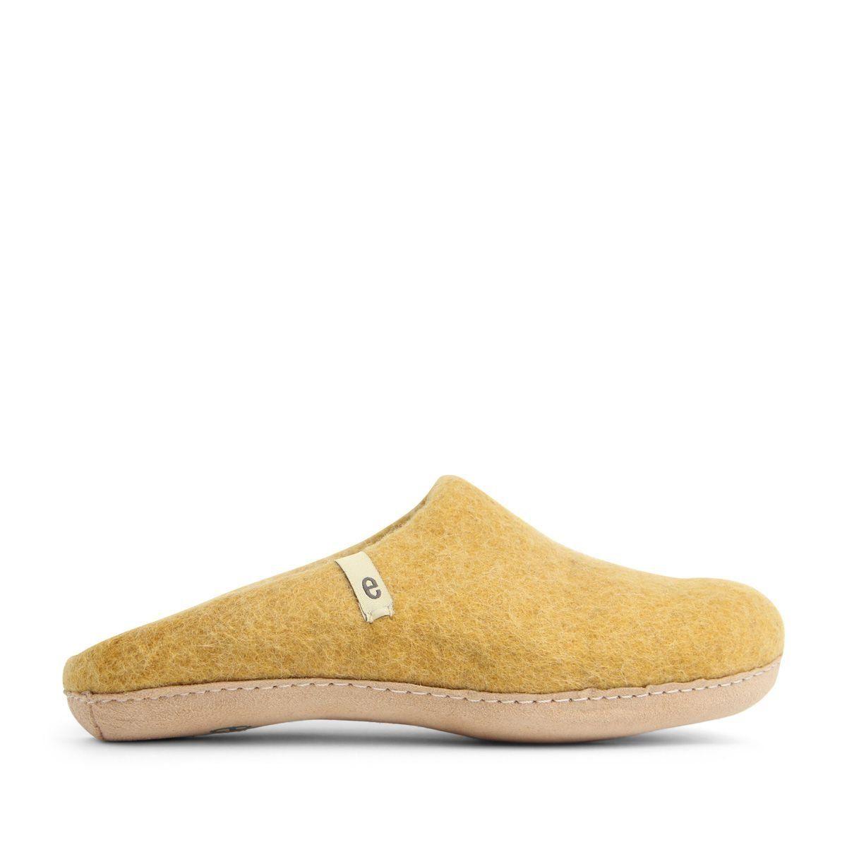 Egos Slip-on Indoor Shoe Simple in Mustard