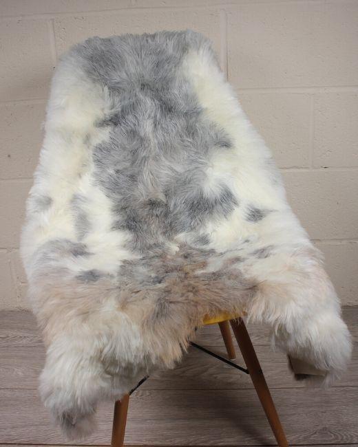 Natural Spotted Shorn Icelandic Sheepskin L