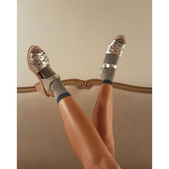 Lotta From Stockholm High Heel Braided Clogs in Silver