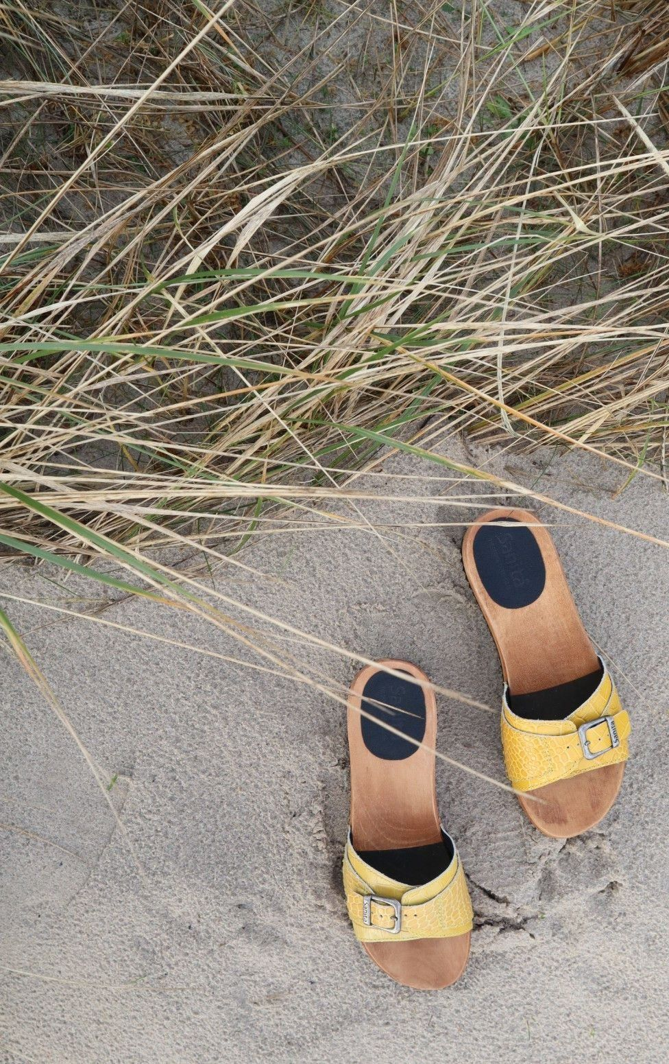 Sanita Ragna Flex Yellow Embossed Leather