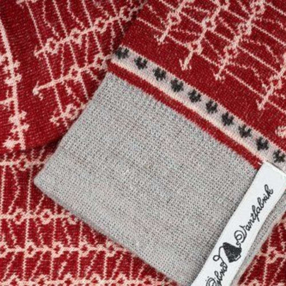 Öjbro Ekshärad Röd Merino Wool Sock