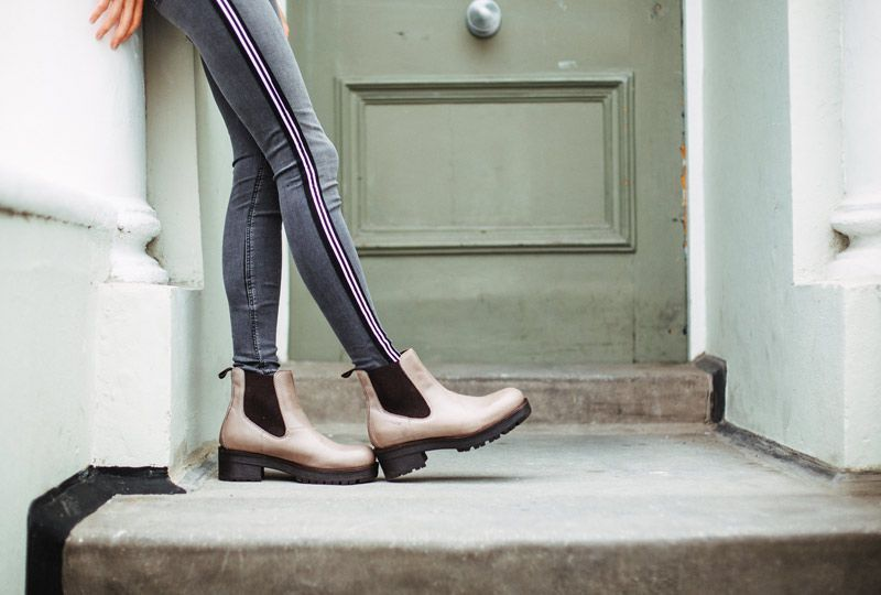 Ten Points Clarisse Taupe Chelsea Boot Elasticated