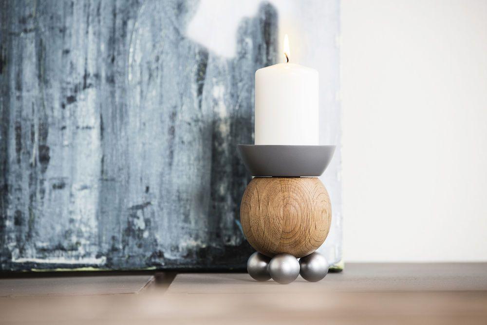 Sagaform Oak Candle Holder