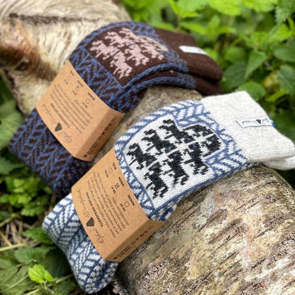 Öjbro Gotland Brun Wool Sock