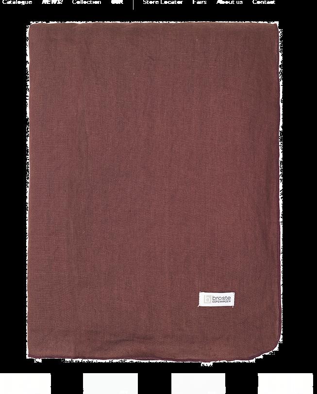 Broste Copenhagen Linen Table Cloth In Aubergine