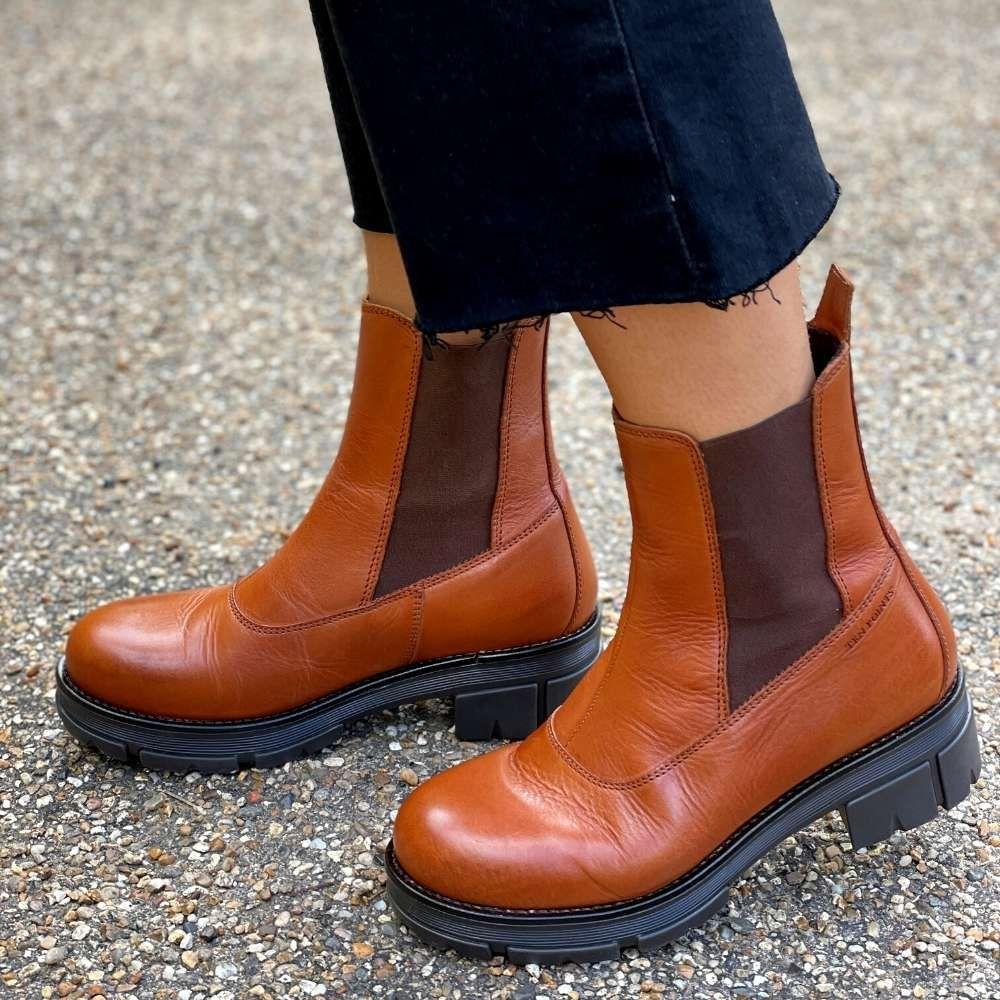 Ten Points Cecilia Chelsea Boot in Cognac