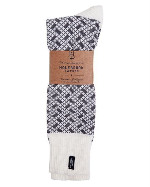 Holebrook Donso Raggsocka Off White and Grey