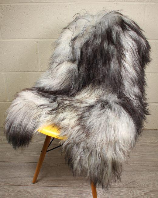 Natural Grey Icelandic Sheepskin S