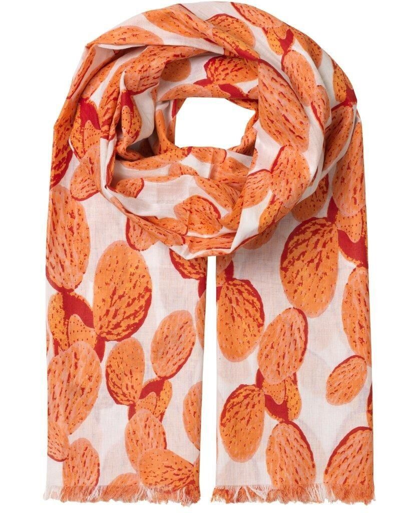 Unmade Wild Cactus Scarf in Coral