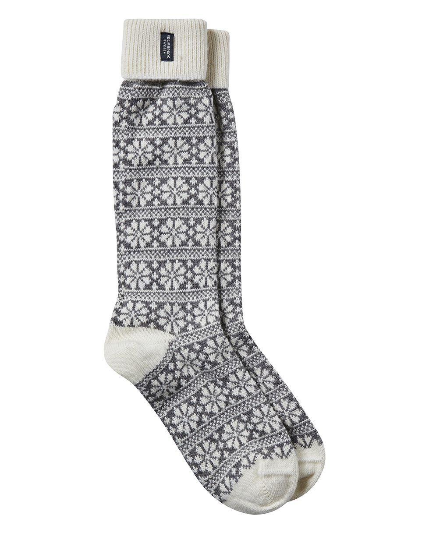 Holebrook Snowflake Raggsocka in Grey and White