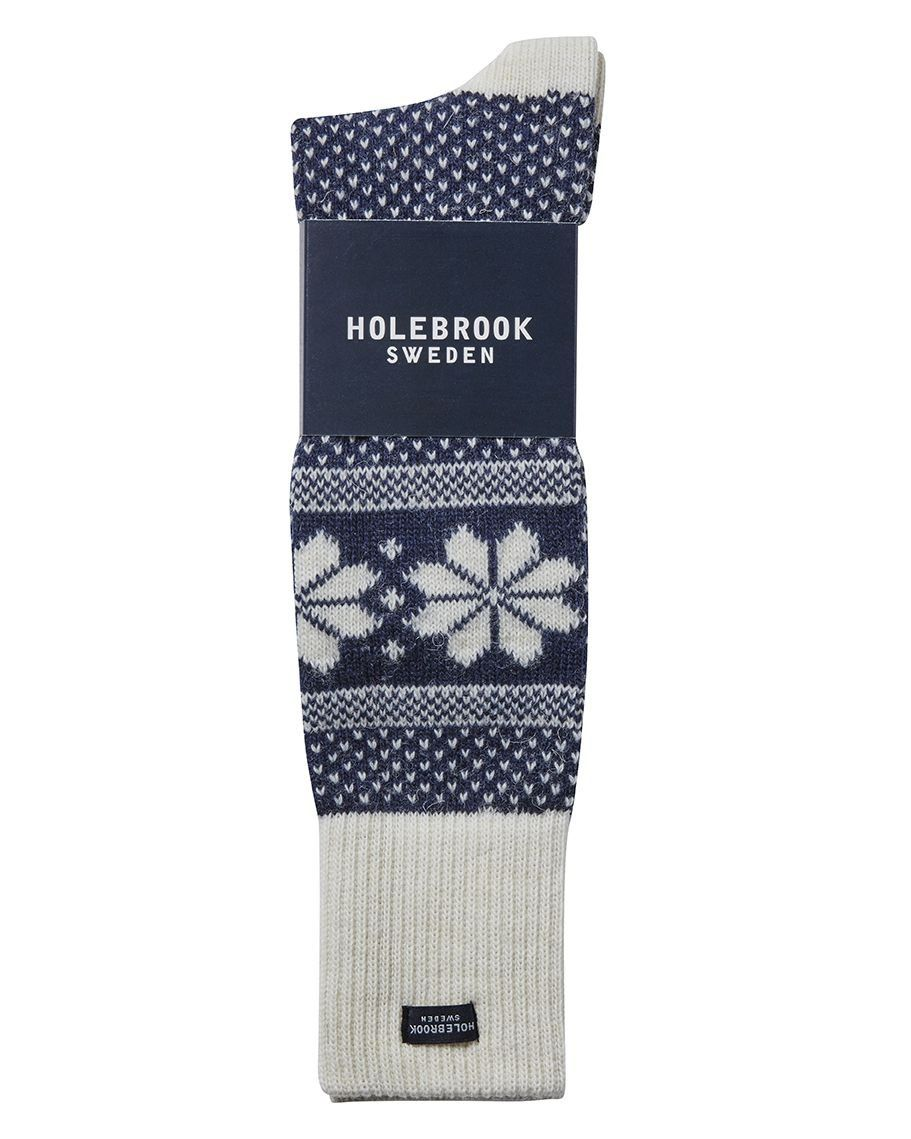 Holebrook Winter Raggsocka in Navy and White