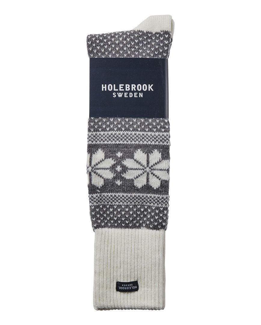 Holebrook Winter Raggsocka in Grey and White