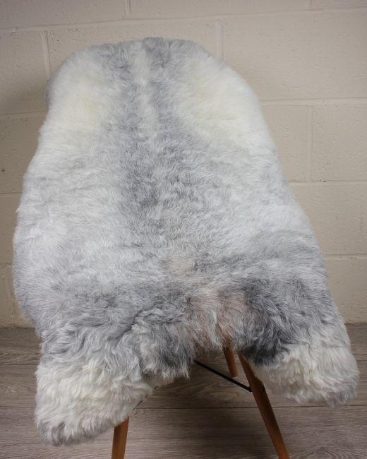 Natural Grey Shorn Icelandic Sheepskin M