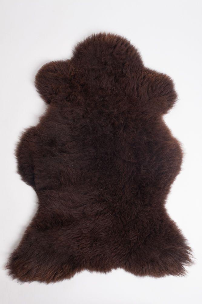 Dark Brown Irish Sheepskin M