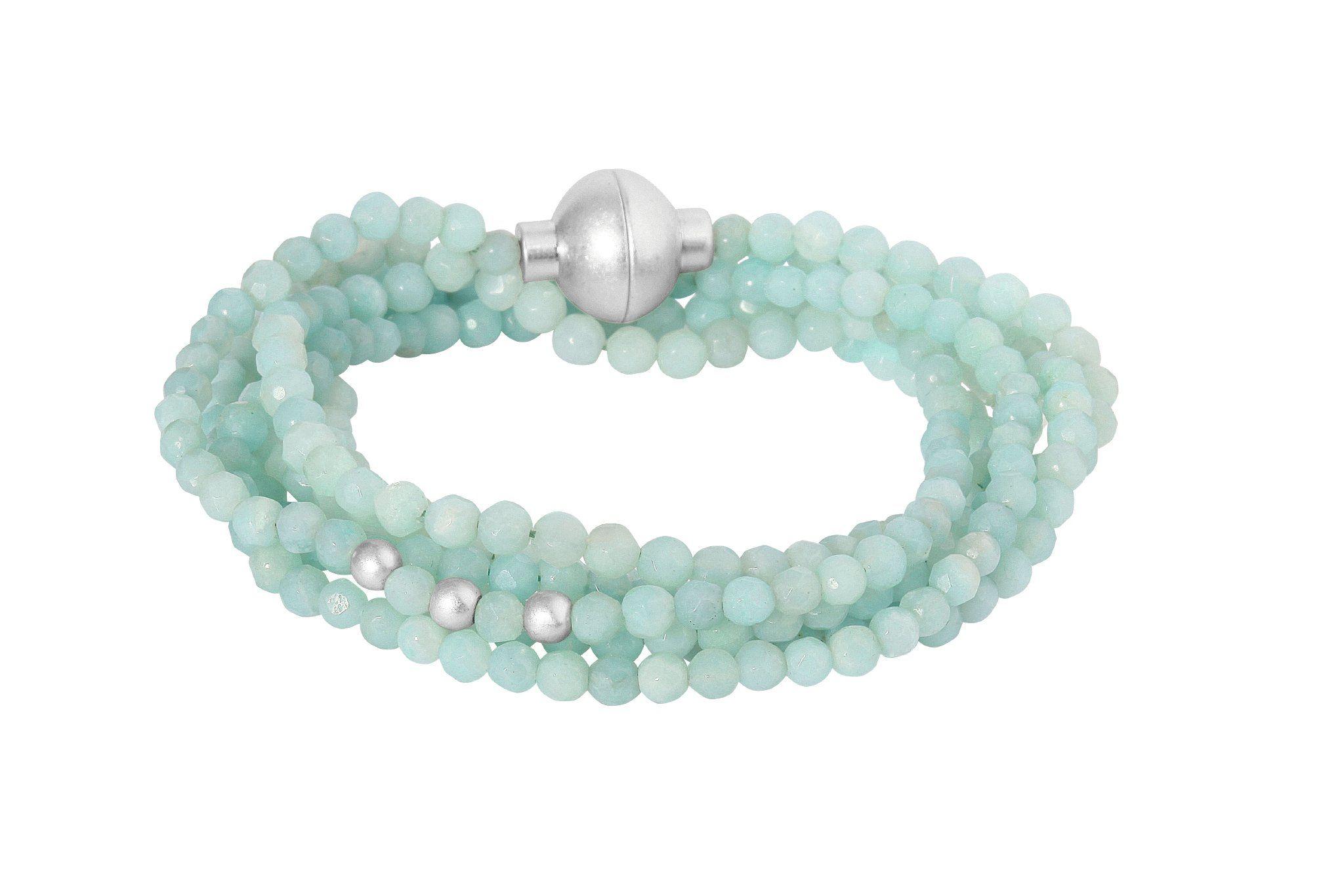 Sence Signature Amazonite Bracelet Worn Silver