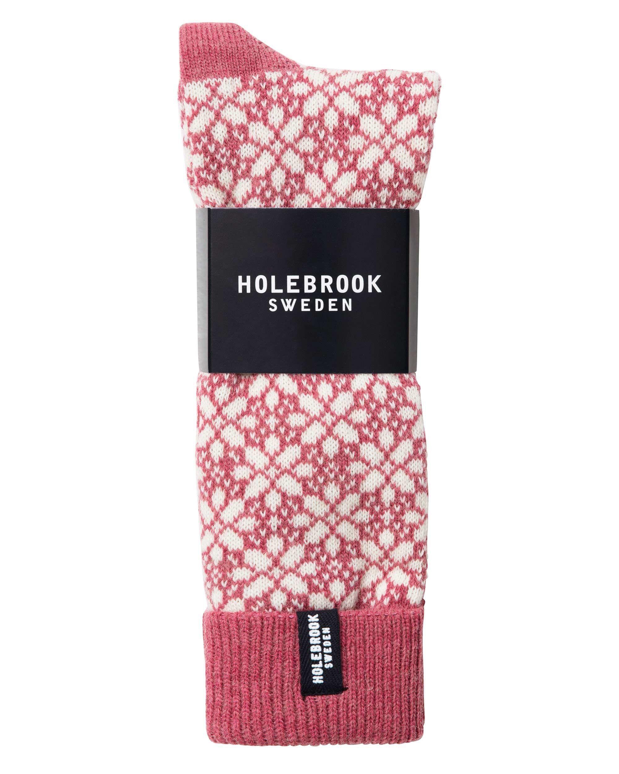 Holebrook Lindö Raggsocka Vintage Pink and Off White