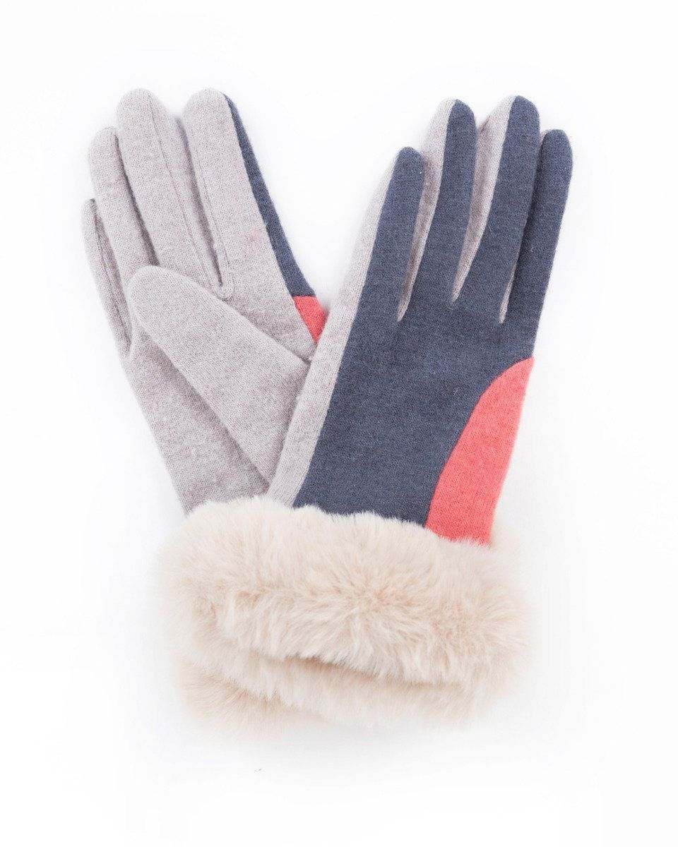 Powder Alexandra Wool Gloves in Coral Mix