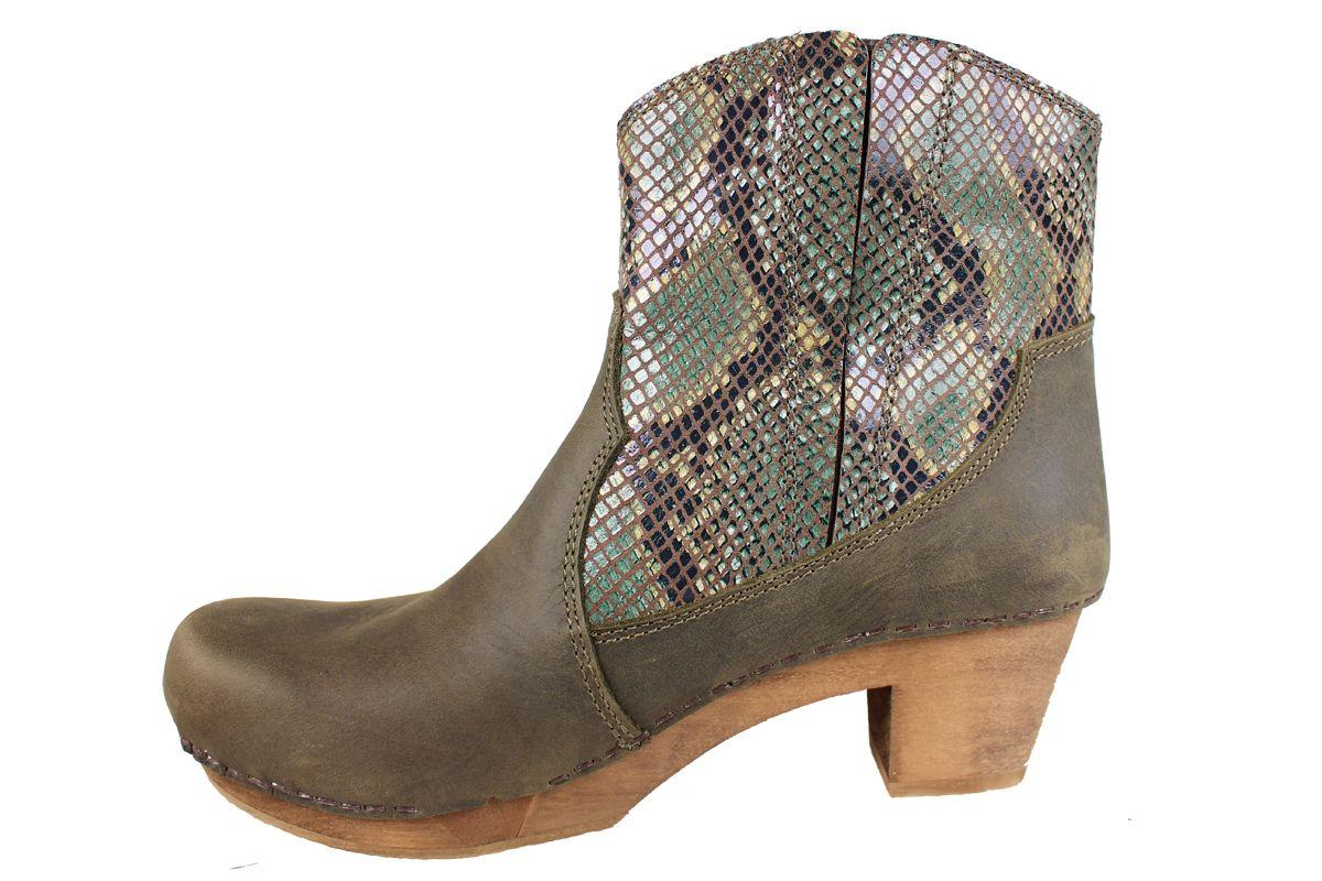 Sanita Baska Flex Sole Olive Snake Boots