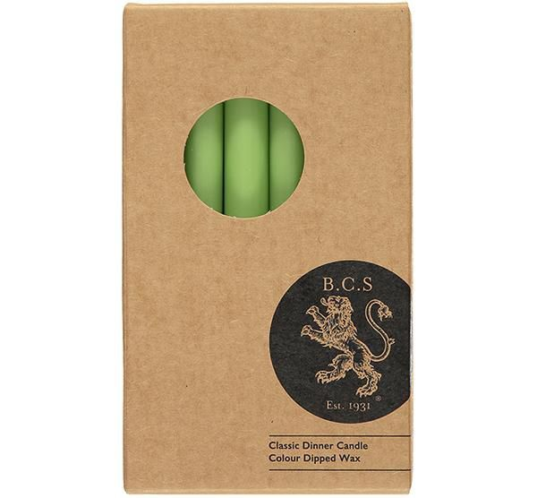 British Colour Standard- Apple Dinner Candles 6 per pack